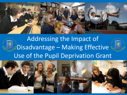 Addressing the Impact of Disadvantage – Newton High School