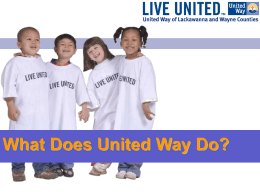 What Does United Way Do? - the United Way of Lackawanna and