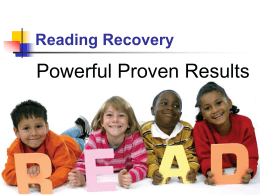 Reading Recovery