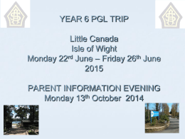 pgl presentation for parents 2015 - St Augustine`s RC Primary School