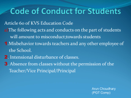 Code of Conduct for Students