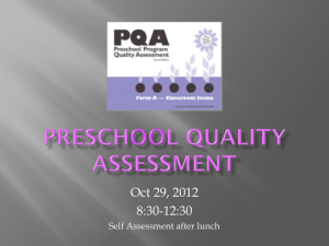 Preschool Quality Assessment ppt - Home