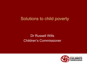 Solutions to child poverty - Russell Wills
