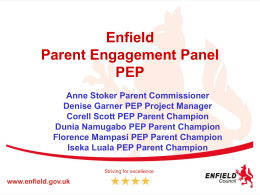 6b. Enfield parent engagement panel