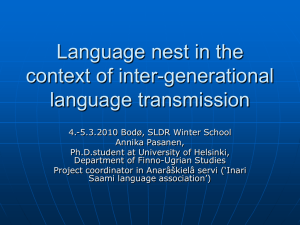 Language nest in the context of inter