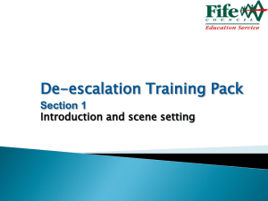 De-escalation Training Pack Presentation 1