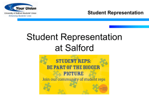 Student Representation at Salford