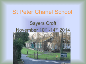 sayers Croft - St Peter Chanel Catholic Primary School