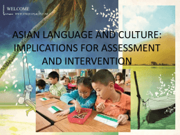 asian language and culture: implications for assessment and treatment