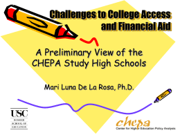 Challenges to Access and Financial Aid
