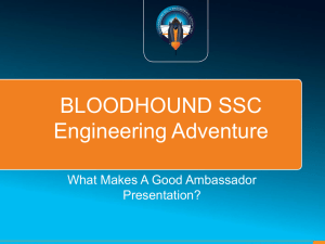 Subject - Bloodhound SSC