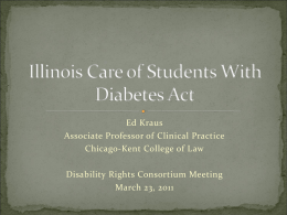 Care of Students With Diabetes Act