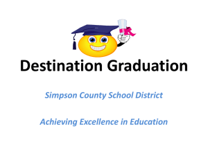 Destination Graduation - Simpson County School District
