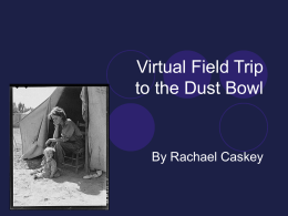 Virtual Field Trip to the Dust Bowl
