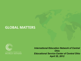 Power Point - GlobalEd Network Central Ohio