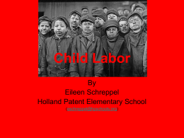 PowerPoint: Child Labor