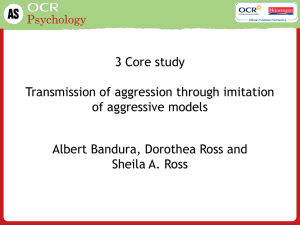 3 Bandura Ross and Ross Core study
