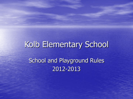 School Rules Power Point 2012