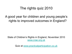 Improving Outcomes Quiz (2010 Version)