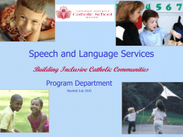 Speech and Language July 2010