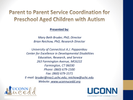 Parent to Parent Service Coordination for Preschool Aged Children