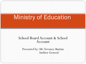 School Account - Ministry of Education