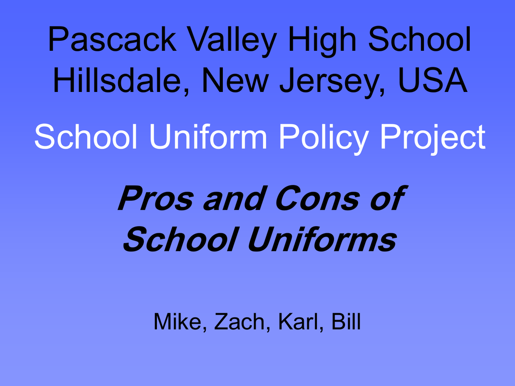 high school uniforms pros and cons
