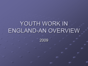 YOUTH WORK IN ENGLAND