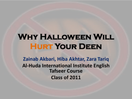 Why Halloween Will Hurt Your Deen Zainab