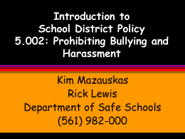 Introduction to School District Policy 5.002