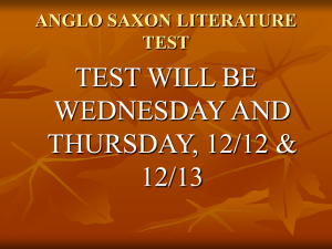 ANGLO SAXON LITERATURE TEST