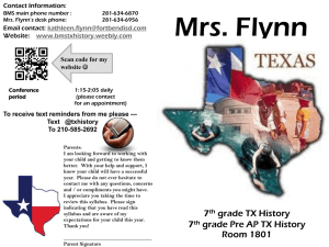 Flynn - 7th Grade Texas History