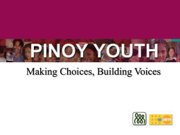 The Youth - About the Philippines