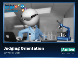 Orientation Slides - The Dallas Regional Science and Engineering