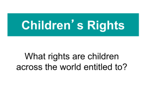 Images of Children`s Rights - Anti