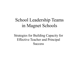 School Leadership Teams - Magnet Schools of America