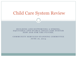 Child Care System Review
