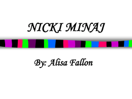 NICKI MINAJ - WordPress.com