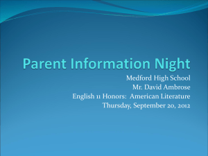 Parents` Night, 9.20.2012