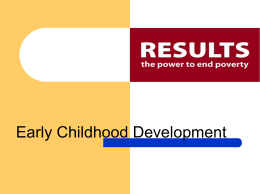 Early Childhood Development PowerPoint presentation