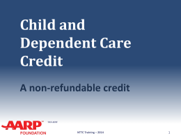 26 Child and Dependent Care Credit - Aarp-tax-aide