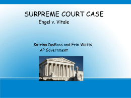an analysis of the 1962s case of engel versus vitale Four students' opinions on the engel vs vitale supreme court case in 1962.
