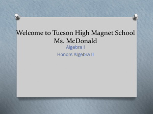 Welcome to Tucson High Magnet School - mcdonaldmath