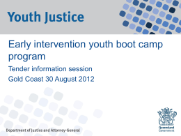 Early intervention youth boot camp program