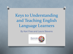 Understanding & Teaching English Language Learners
