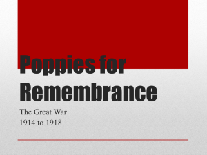 Poppies for Remembrance - The Western Front Association