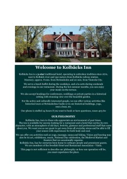 Welcome to Kolbäcks Inn