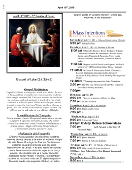 church bulletin here - St. Thomas Aquinas Parish
