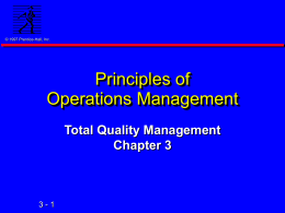 Chap. 3: Total Quality Management