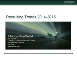 Recruiting Trends 2014-2015 - NJACE